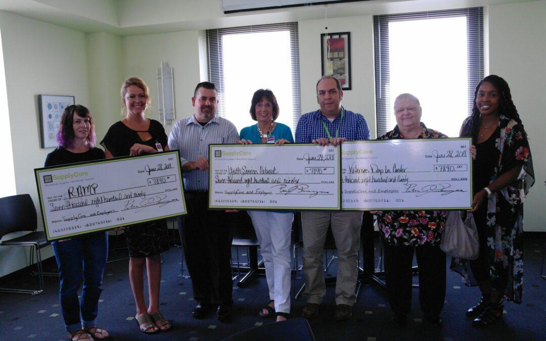 SupplyCore Donates $23,578 to Local Non-Profits